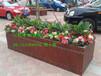 厂家定制小区绿化防腐木花箱,装饰花箱木质