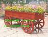 供应英德小区木制花车,清远公园户外实木花车