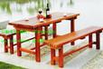 供应园林木制桌椅,园林室外桌椅,样板房实木桌椅