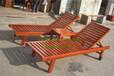 厂家定做防腐木沙滩椅实木躺椅、厂家专业生产供应实木沙滩椅
