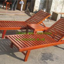 厂家定做防腐木沙滩椅实木躺椅、厂家专业生产供应实木沙滩椅图片