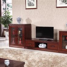 客厅时尚实木电视柜木言木语地柜成套实木家具定制图片