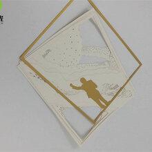 深圳龙岗纸制品创意挂画卡纸激光雕花、激光切割加工-满海激光雕刻