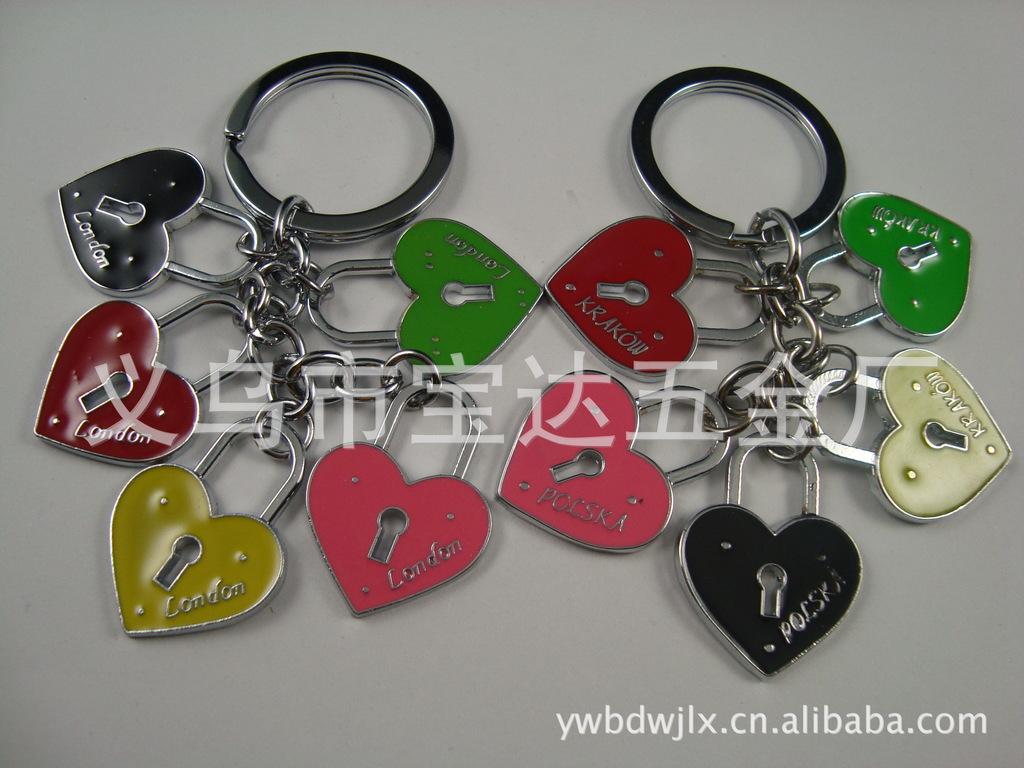 ...钥匙扣钥匙圈锁匙扣汽车钥匙环男女创意简约金属挂件金达日美