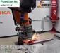 工業機器臂快換電主軸去焊疤