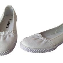 供应白色平底鞋休闲鞋跑步鞋物优价廉厂家批发河南焦作天狼图片