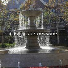 双层喷泉石雕,欧式石喷泉图片