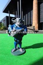玻璃钢警察局长雕塑,疯狂动物城卡通雕塑