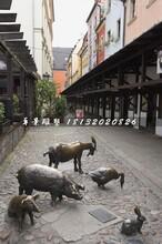 家禽家畜铜雕,街头动物铜雕图片