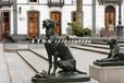 小狗铜雕,广场动物铜雕
