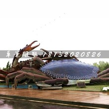 螃蟹雕塑,玻璃钢动物雕塑图片