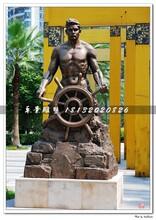开船铜雕,广场人物铜雕图片