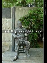 拉二胡铜雕,公园景观铜雕图片