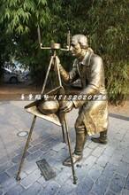 洋人铜雕,街头景观雕塑图片