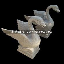 天鹅石雕,公园喷水天鹅雕塑图片