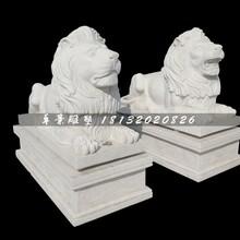 西洋狮石雕,汉白玉狮子雕塑图片