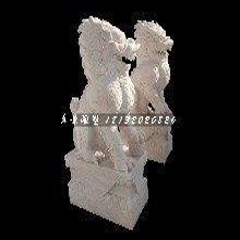 戏球麒麟石雕,神兽石雕图片