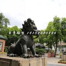 麒麟铜雕,广场神兽铜雕图片
