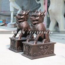 麒麟铜雕,广场铜麒麟图片