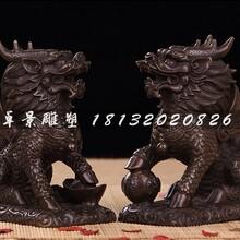 麒麟铜雕,招财麒麟雕塑图片