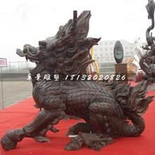 麒麟铜雕,铸铜麒麟雕塑图片
