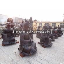 十二生肖雕塑,兽首人身铜雕图片