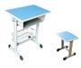 沧州双人课桌椅生产批发钢木优质课桌价格
