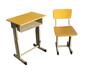 学生升降钢木课桌椅单人培训课桌图片