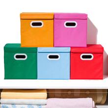 翻盖无纺布收纳箱折叠整理箱衣服杂物储物箱多功能折叠置物批发图片