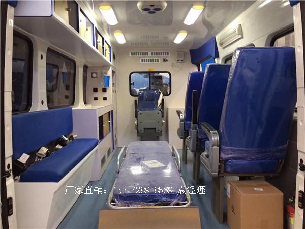 主流救护车福特全顺新世代v348长轴高顶监护型救护车厂家直销