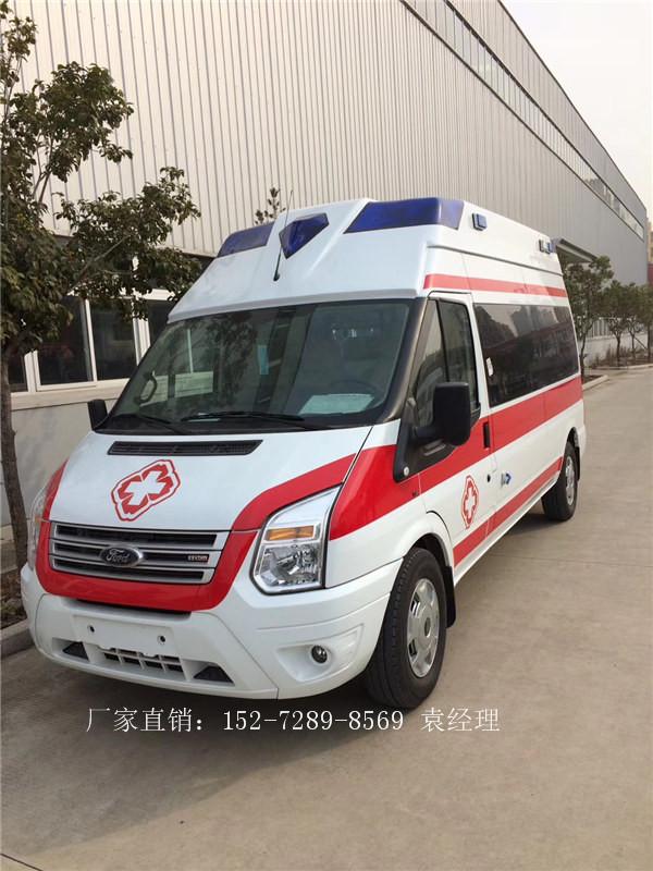福特进口发动机的救护车全顺新世代120救护车厂家直销