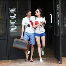 短袖夏装t恤批发货到付款情侣装2元批发厂家直销批发衣服货到付款