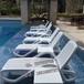 上海户外泳池躺椅游泳馆躺椅塑料沙滩椅
