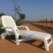 躺椅折叠椅高端进口塑料沙滩椅带超大储物箱