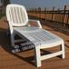 折叠躺椅批发现货供应意大利进口塑料沙滩椅折叠户外躺床