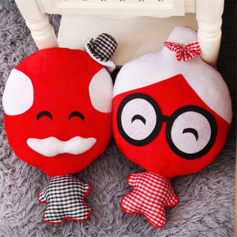 婚庆节日礼品填充毛绒玩具布艺娃娃吉祥物公仔压床定制批发