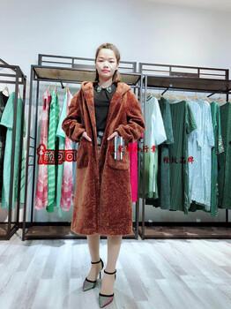 工厂大量反季雅姿蔻羊剪绒品牌折扣女装走分批发库存尾货一手货源