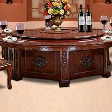 天津酒店餐桌椅定制,实木大圆桌价格