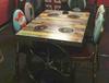 天津市碳化火锅餐桌,烧烤桌马鞍凳子,厂家直销