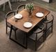 天津饭店做旧榆木餐桌,小吃榆木餐桌椅厂家定制