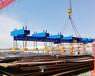 室外大型钢板吊装16台电永磁铁联吊
