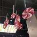 供应连锁门店装饰玻璃钢波板棒棒糖道具