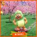 商业美陈游乐园景观雕塑玻璃钢卡通形象雕塑熊大熊二