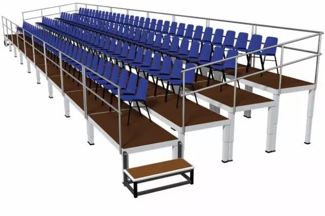 厂家直销优质铝合金活动看台简易看台体育馆看台室内外看台可订制