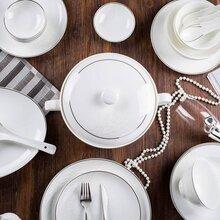 摆台陶瓷餐具批发酒店摆台餐具定制图片