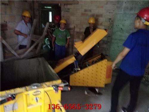 贵州铜仁地区烟台二次结构泵工作视频