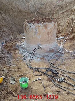 地基破石头液压分裂机无振动
