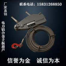 精品新型铝合金手扳葫芦3200KG20M钢丝绳牵引