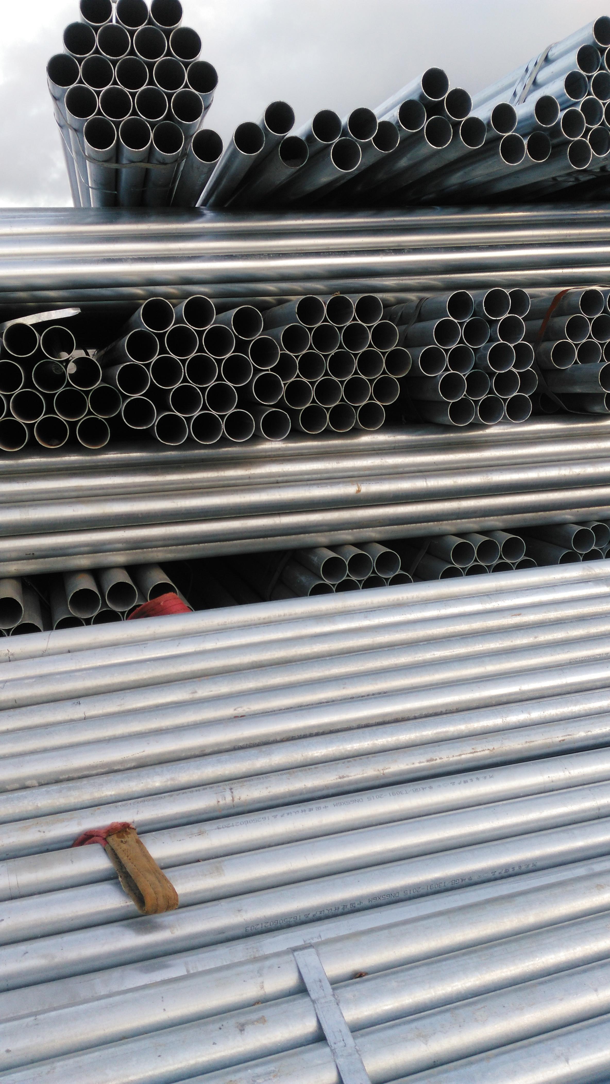 镀锌钢管市场价格海南丰伟实业热镀锌钢管优惠批发