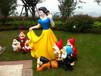 南阳庆祝六一儿童节展览卡通模型白雪公主熊出没一套
